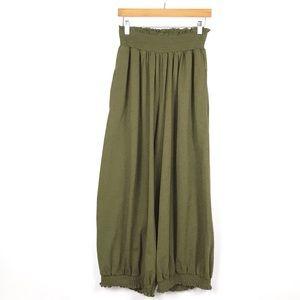 Intimately Free People Green Harem Pants Sz Sm